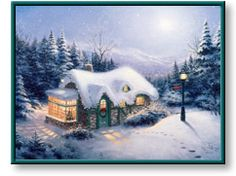 """my Thomas Kinkade painting """"Silent Night"""""""