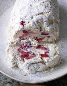 Strawberry Meringue Roulade