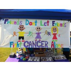 Hand painted team banner idea at Relay For Life!