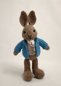Knit Bunny Toy... link to purchase this pattern:    http://www.ravelry.com/patterns/library/well-dressed-bunny