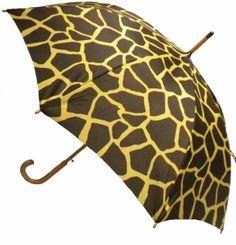 Giraffe Print Umbrella @ www.let-it-rain.com