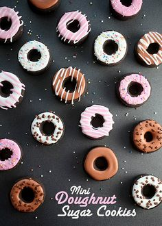 Mini Doughnut Sugar Cookies by @Bakerella