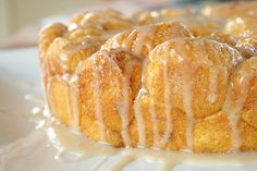 Pumpkin Pull-Apart Monkey Bread with Maple Glaze