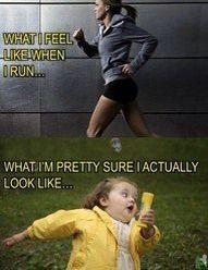 Running. Perception v. Reality
