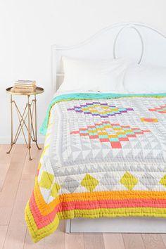 Kaleidoscope Patchwork Quilt contemporary-quilts