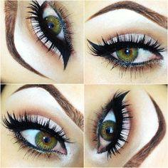 eye makeup, cat eyes, brow, hazel eyes, green eyes, beauti, winged eyeliner, natural looks, hair