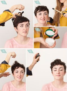 Curling Iron Curls / 18 Awesome Style Ideas For Pixie Cuts (via BuzzFeed)