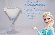 Elsa cocktail drink