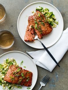 Broiled Miso-Glazed Salmon Recipe from @Todd Perry Perry & Diane (White On Rice Couple)
