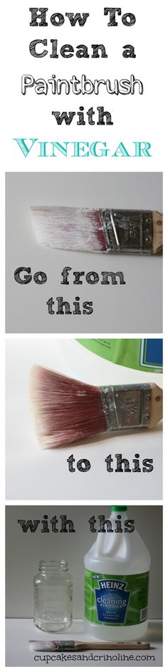 How To Clean a Dry and Crusted Paintbrush Easily with Vinegar