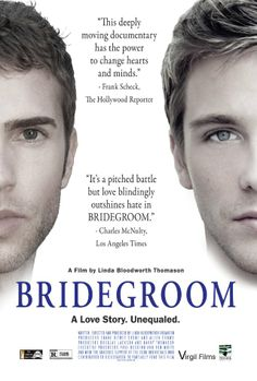 """""""Bridegroom""""    Sometimes a movie just breaks your heart.  When its a documentary about real people, it should be required viewing.  Watch it on Netflix streaming  -bcm"""