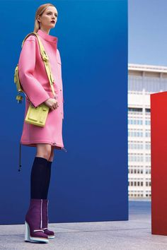 Electric blues, cotton-candy pinks, and citrus greens: Fall's palette is all over the color wheel. See more looks here.