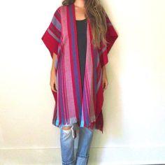 fashion, poncho cape, capes, pink woven, hot pink, woven poncho, ponchos
