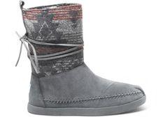 Grey Suede Jacquard Women's Nepal Boots | TOMS.com #toms