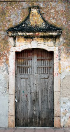 Beautiful doors in Valladolid Mexico