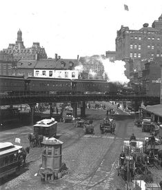 New York City Elevated Train Early 1900's