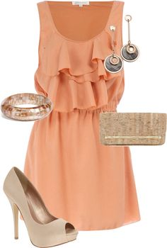 Another cute wedding outfit.....I will definitely need to go shopping for this upcoming wedding season.