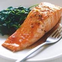My favorite simple & quick salmon recipe. I don't use the olive oil.