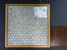 gray blue green color with brown edges $5.95 sq ft tile shop moss green penny round