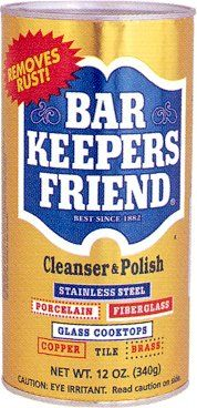 Step # 1 -Removes hard water stains from glass shower doors.  Follow with Bar Keepers Friend Glass Cooktop Cleaner.  Finish with RainX to prevent future build up