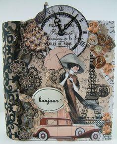 Artfully Musing: Paris Inspired Accordion Fold Book