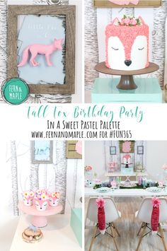 Sweet Fall Fox Birthday Party Ideas! #fun365 #fallparty #kidsparty #foxparty #birthdayparty #partyideas #girlsparty