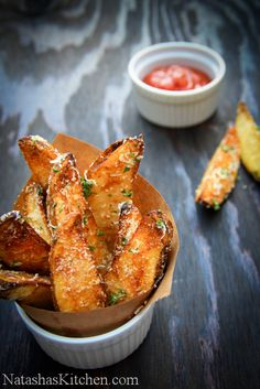 Oven Baked Potato Wedges. Crisp, cheesy and delicious. Just like they should be :) @NatashasKitchen