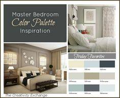 Master Bedroom Color Palette Inspiration {Friday Favorites} The Creativity Exchange...benj moore sparrow