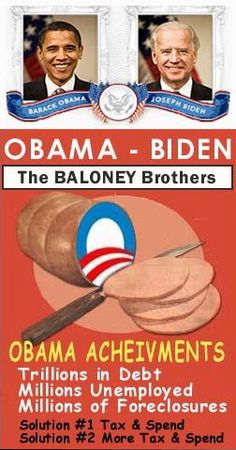 """BO & Biden Achievments, the biggest bunch of baloney stupid voters could ever have believed!  Shame on those looser """"sheep""""!"""
