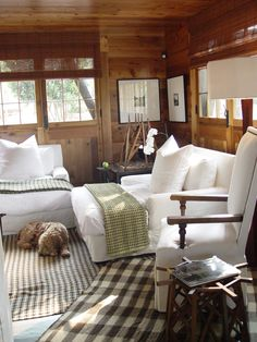 interior, lake houses, camp, cottag, rug, wood, lake living, little cabin, philosophy