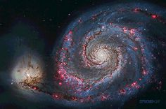 This is The Whirlpool—the common name of M51, a spiral galaxy similar to our own Milky Way estimated to be 50,000 to 100,000 light years acr...