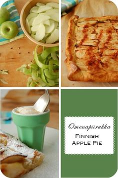Omenapiirakka - Finnish apple pie.