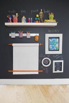 art station, art space, idea, chalkboard walls, chalkboard paint