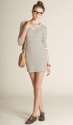 Cassy Black Stripes - Organic Cotton - Amour Vert | eco-fashion