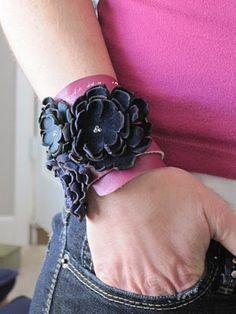 DIY leather cuff/bracelet