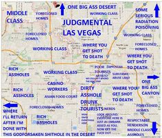 Judgmental Map of Las Vegas, NV #2 | {by Ed Park}