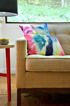 The DIY: Marker-Dyed Pillow Covers  - DIY Your Way to Designer Summer Decor on HGTV