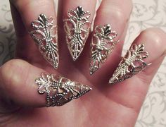 Silver Dragon Claws // Nail Armor // Set of 5 by JekyllHydeJewelry, $18.00