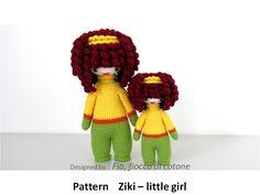 Fia, fiocco di cotone: Ziki - little girl and mini Ziki - little girl