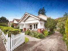 White on white Californian Bungalow. 206 Napier Street, Essendon, Vic 3040