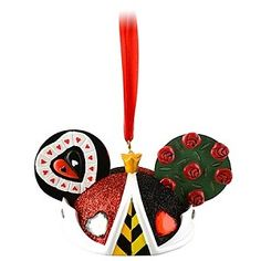 Disney Ear Hat Ornament - Queen of Hearts -  Limited Edition