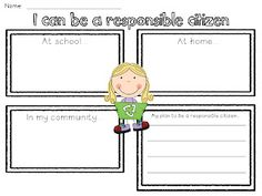 Citizenship freebie. So could have used this in my lesson two weeks ...