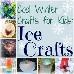 Winter Crafts for Kids: 10 Ice Crafts. Tons of fun and icy art projects!