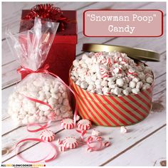 Learn How to Make Snowman Poop in Your Slow Cooker with this fun and easy snowman poop recipe. Not only is this one of the funniest homemade Christmas gag gifts and ideas for adults, snowman poop candy is also a fun treat for the kids.