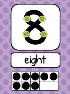 Bright Polka Dot Number Signs