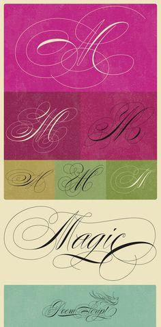 Poem Script typeface by Ale Paul