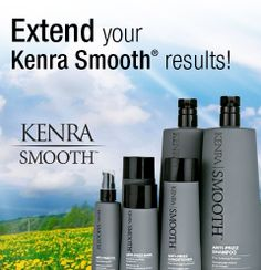 Be sure to extend the life of your Kenra Smooth® service at home with the Kenra Smooth Anti-Frizz Collection: Shampoo, Conditioner, Mask and Oil. Ask your stylist about Kenra Smooth today!