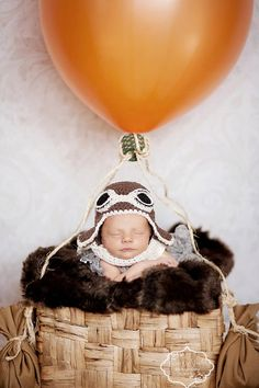Aviator Hat and Scarf photo prop