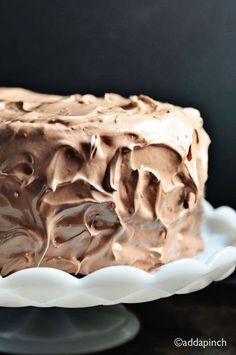 Chocolate Velvet Cake Recipe   ©addapinch.com