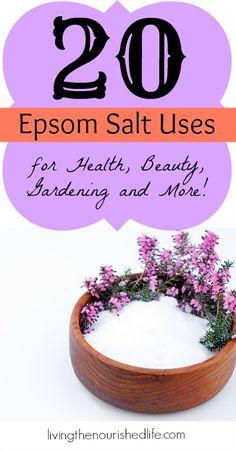 20 Epsom Salt Uses